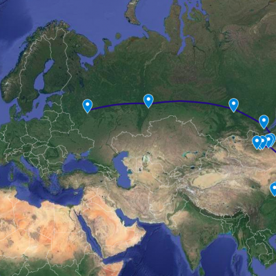 Travelling +10,000 km by train while earning money